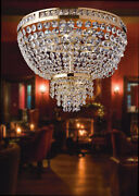 Ceiling Classic Gold With Crystals 12 Lights Lgt Athens Pl12