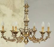 Chandelier Wooden Classic A 6 Lights Coll Holder 740/6
