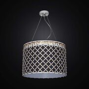 Chandelier Contemporary Wrought Iron And Fabric A 5 Lights Bga 2541/s43