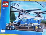 Lego City 4439 Heavy Lift Police Helicopter Instruction Manuals Only Book 1 Only