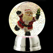 Animated Santa Snow Globe With Color Changing Led Lights / Watch Our Live Video