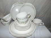 16 Syracuse Syralite Restaurant Ware China Plates Cup Saucer Platter Deep Meadow