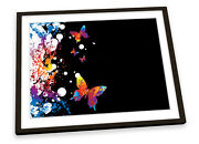 Floral Butterfly Abstract Framed Art Print Picture Poster Artwork