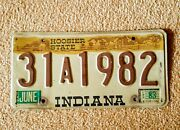 Vintage Indiana Auto License Plate - Historic Year For Antique Cars 1982