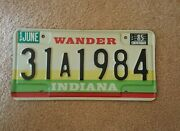 Vintage Indiana Auto License Plate - Historic Year For Antique Cars 1984
