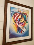 Alfred Gockel Signed In Gold Pen, Super Rare. Usa Olympic Limited Ed. Poster