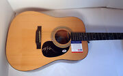 Willie Nelson Country Signed Autograph Epiphone Acoustic Guitar Psa/dna Coa