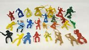 Vtg Lot Of 26 Mixed Marx Timmee Mpc Plastic Western Cowboys Indians Toy Figures