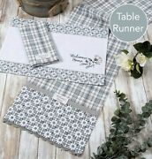 Kay Dee Designs Modern Farmhouse 72 Cotton Table Runner Welcome Home