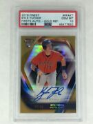 2019 Topps Finest Kyle Tucker Finest Firsts Auto Gold Refractor /50 Psa 10