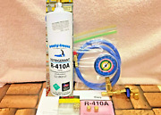 410a R410a R-410a Refrigerant Refill Kit Gauge Charging Hose And Instructions