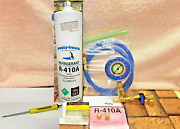 Refrigerant 410a R410a Recharge Kit Check And Charge-it Gauge Hose Valve Tool