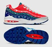 New Nike Air Max 95 Gs Youth/kids Shoes, White/university Red, Ct1593-100, Sz 7y