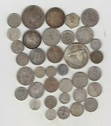 150.51 Grams Of World Foreign Silver Content Coins Used To Near Mint Condition