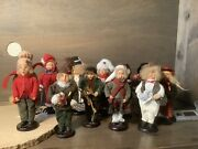 Vintage 1970 Christmas Carolers Fabric Clothes Plastic Set Of 12 Assorted 10