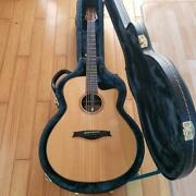Morris S100y Natural S Series Electric Acoustic Guitar With Hard Case