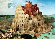 2000 Piece Jigsaw Puzzle The Tower Of Babel Super Small Piece 38x53cm
