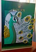 Rolex Roldeco Acrylic Metal Display Peacock Display Stand And Sliding Base Heavy