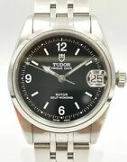 Tudor Date 72000 Automatic Stainless Steel Black Dial Menand039s Box And Papers