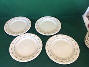 Longaberger Dinnerware Classic Blue 4 Dinner Plates Pottery New In Boxes