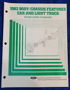 1982 Ford Mercury Body / Chassis Features Car - Light Truck Dealer Training Book