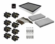 Denso Filters Wires Ignition Coils 8 Spark Plugs Tune Up Kit For Chevy Gmc Cady
