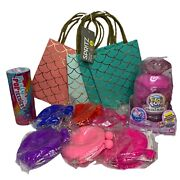 Girls Party Pack- Dayglo Purses Treat Bags Pop Teenies Pikmi Pops Surprise