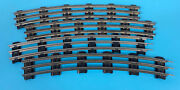 Lot Of 4 Lionel O72 Scale/gauge Curved Track Pieces 3 Rail Tubular 6 Ties Rare
