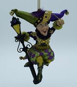Katherineand039s Collection Mardi Gras Jester With Lamppost Ornament