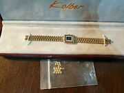 Kolber Geneve Swiss Watches Ladies 10 M 18k Gold K-1022 Electro Plated