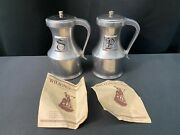 Wilton Rwp Armetale Columbia, Pa Pewter Salt And Pepper Shakers 5 Tall