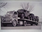 Dodge Power Wagon On Car Carrier Army Trucks Early 50and039s 11 X 17 Photo Picture