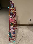 Mr Christmas 1993 Mickeys Tree Trimmer 4ft Ladder Animated Mickey And Five Friends