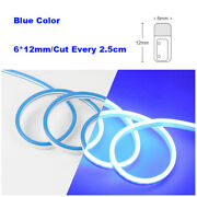 Blue Dc12v Silicone Led Rope Light Fairy Lights Xmas Home Car Boat In/outdoor