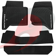 2015-2020 Cadillac Escalade Front And 2nd And 3rd Row All Weather Floor Mats Black