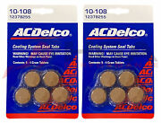 Genuine Gm Acdelco Coolant System Sealing Tabs Stop Leak Set Of 2 12378255