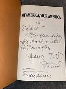 My America, Your America Lawrence Welk Autograph Signed Book Rare Legend Tv Star