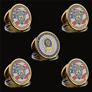 5pcs Usa Nypd Police Officer Faithful Unto Death Challenge Coin Token Collection
