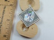Tourmaline Mineral Heritage 10 Cent Postage Stamp Pin