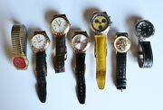 Vintage 7 Piece Assorted Swatch Watch Collection W Some Paperwork And Cases