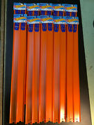 """New Hot Wheels Track Builder 24"""" Pieces Lot Of 10 Pair. 20 Tracks And Connectors"""