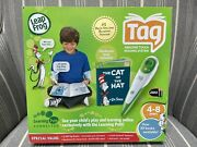 Leapfrog Tag Reading System Cat In The Hat Green Touch Reader Open Box