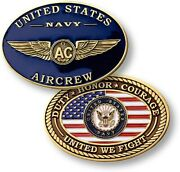 U.s. Navy Aircrew Challenge Coin United States Naval Aviation Ntm-60116