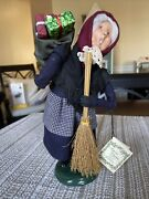 Byers Choice 2001 Old Befana Italian Witch With Original Tag-excellent