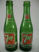 Vintage 7 Oz 7 Up Soda Acl Green Glass Bottles