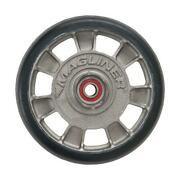 Lightweight Hand Truck Wheel Mold-on Rubber With Sealed Semi-precision Bearings