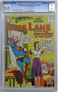 Supermanand039s Girlfriend Lois Lane 4 Cgc 8.0 Curt Swan Cover 1958