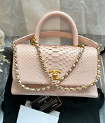 1000 Auth 🦄super Rare🦄 Small Mini Coco Pink Python Full Set Bag