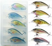 5x Assorted 65mm 10g Realistic Crankbait Fishing Lures +clear Plastic Tackle Box