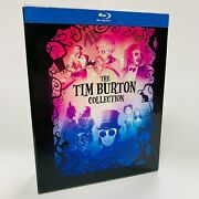 The Tim Burton Collection Blu-ray Disc, 2012, 7-disc Set, With Book Free Ship🚛